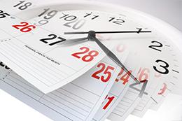 Clock calendar, large